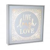 Live Laugh Love - Large Square Light Box