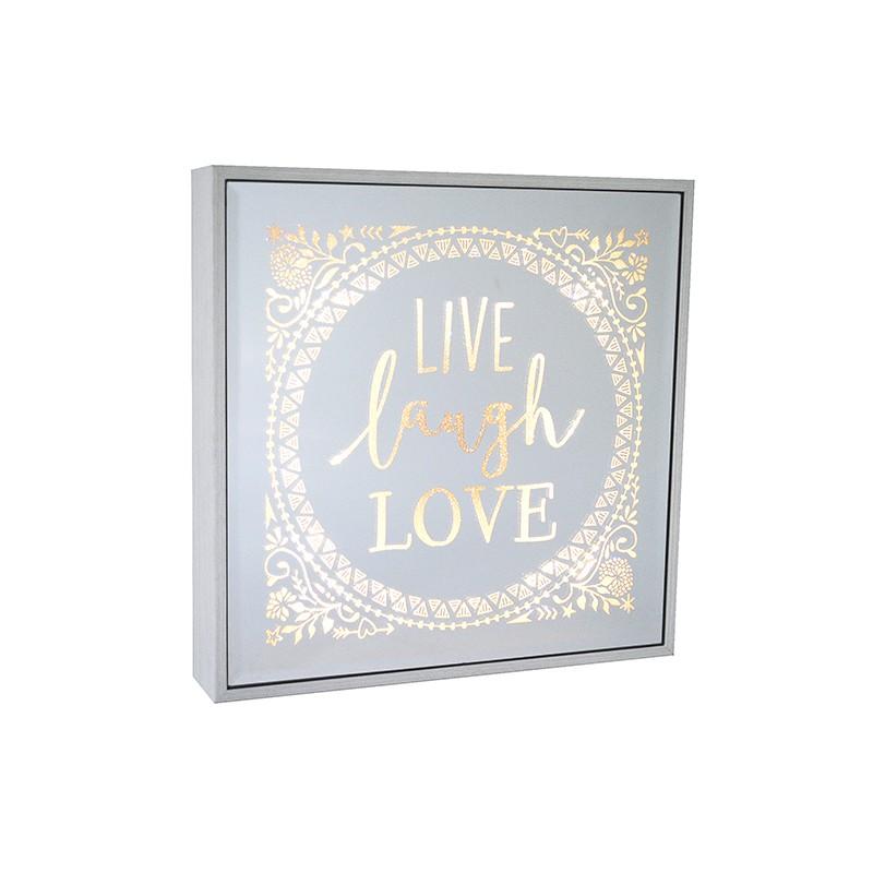 Live Laugh Love Large Square Light Box Artique
