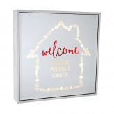 Welcome - Large Square Light Box