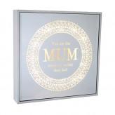 Mum - Large Square Light Box