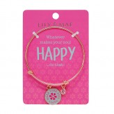 Happy - Rose Gold Bangle
