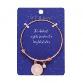 Brightest Stars - Rose Gold Bangle
