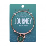 Life's A Journey - Rose Gold Bangle