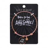 Born To Be Awesome - Rose Gold Bangle