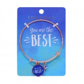 You Are The Best - Rose Gold Bangle