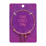 Good Vibes Only - Rose Gold Bangle