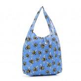 Eco Chic Blue Bee's Shopper Bag