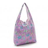 Eco Chic Lilac Butterflies Shopper Bag