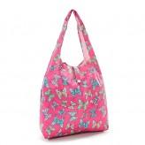 Eco Chic Fuchsia Butterflies Shopper Bag