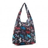 Eco Chic Black Scotty Dog Shopper Bag