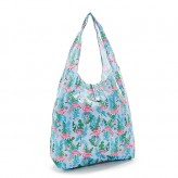 Eco Chic Blue Flamingo Shopper Bag