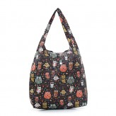Eco Chic Black Owls - Branch Shopper Bag