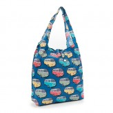 Eco Chic Teal Camper Van Shopper Bag