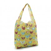 Eco Chic Green Chickens Shopper Bag