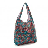 Eco Chic Green Rose Shopper Bag