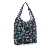 Eco Chic Black Bikes Shopper Bag