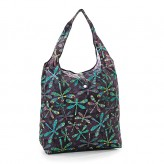 Eco Chic Black Dragonfly Shopper Bag