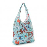 Eco Chic Blue Llama Shopper Bag