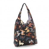 Eco Chic Black Llama Shopper Bag