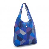 Eco Chic Blue Triangle Shopper Bag