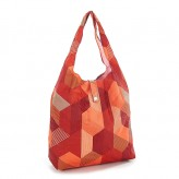 Eco Chic Red Triangle Shopper Bag