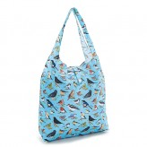 Eco Chic Blue Wild Birds Shopper Bag