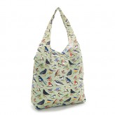 Eco Chic Green Wild Birds Shopper Bag