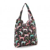 Eco Chic Black Unicorn Shopper Bag