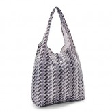 Eco Chic Grey Geometric Shopper Bag
