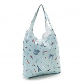 Eco Chic Blue Paris Shopper Bag