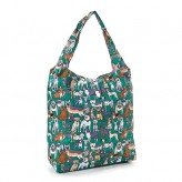 Eco Chic Green Dogs Shopper Bag