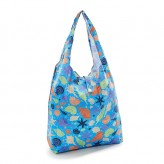 Eco Chic Blue Seashells Shopper Bag
