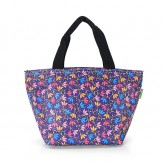 Eco Chic Purple Ditsy Doodle Lunch Bag