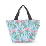 Eco Chic Blue Flamingo Lunch Bag