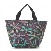 Eco Chic Black Dragonfly Lunch Bag