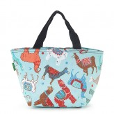 Eco Chic Blue Llama Lunch Bag