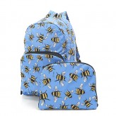 Eco Chic Blue Bee's Backpack