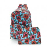 Eco Chic Green Poppies Backpac