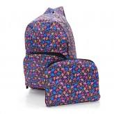 Eco Chic Purple Ditsy Doodle Backpack