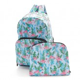 Eco Chic Blue Flamingo Backpack