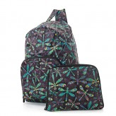 Eco Chic Black Dragonfly Backpack