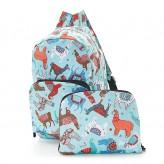 Eco Chic Blue Llama Backpack