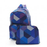 Eco Chic Blue Triangle Backpack