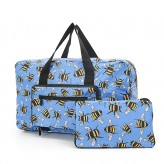 Eco Chic Blue Bee's Holdall