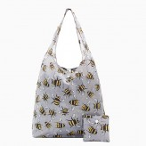 Eco Chic Grey Bee's Shopper Bag
