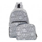 Eco Chic White Music Backpack