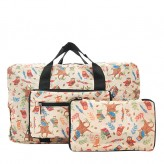Eco Chic Beige Owl Holdall