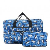 Eco Chic Blue Puffin Holdall