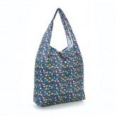 Eco Chic Black Ditsy Doodle Shopper Bag