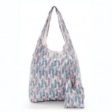 Eco Chic White Feathers Shopper Bag